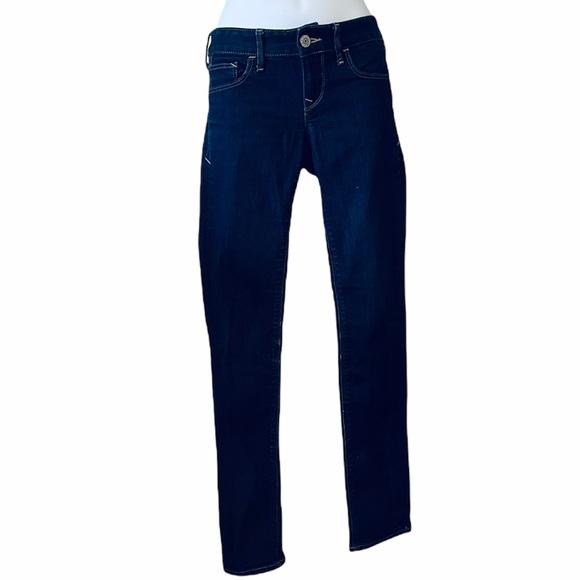 Express jeans Outlet  Stella lowrise skinny dark wash jeans